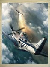 Air Forces WW2 art P51 Mustang Fabric Wall Print Poster 24X32 Inch 003