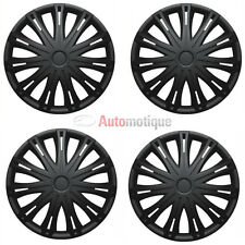 "SPARK 15"" Car Wheel Trims Hub Caps Plastic Covers Set of 4 BLACK Universal fit"