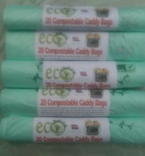 124 x 7 Litre Compostable Food Waste Caddy Liner Bags Biodegradeable