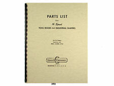 Gould & Eberhardt 16 Speed Metal Shaper  Parts List Manual  *392