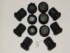 """(12) NEW 3/4"""" HEAVY RUBBER CANE TIPS FOR WALKING STICKS, CRUTCHES, & WALKERS"""