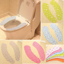 Magic adhesive Bathroom Toilet Washable Closestool Seat Warmer Soft Cover
