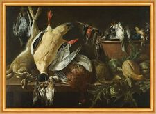 Still Life with Games and Vegetables Jan Fyt Jagen Beute Hase Vögel B A2 02428