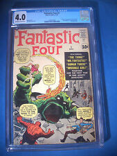 1961 * FANTASTIC FOUR #1 * Marvel Comics * CGC Graded 4.0 VG * RARE WHITE Pages