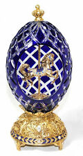 The Franklin Mint Sapphire Inspiration Crystal Carousel Egg