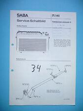 Service-Manual-Anleitung für Saba Transeuropa automatic K ,ORIGINAL!