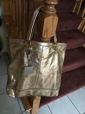 AUTHENTIC BURBERRY LONDON BAG PURSE TOTE PURSE NWT GOLD LIMITED EDITION  RARE