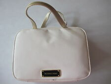 Victoria's Secret White and Gold Cosmetic Makeup Hanging Travel Bag Case