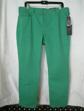 NYDJ NOT YOUR DAUGHTERS JEANS GREEN/SLIMMING FIT SKINNY JEANS SZ 16P-NWT