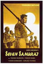 SEVEN SAMURAI Movie POSTER Italian 27x40 Toshiro Mifune Takashi Shimura