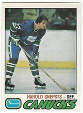 1977-78 OPC HOCKEY #295 HAROLD SNEPSTS - NRMT/NRMT+