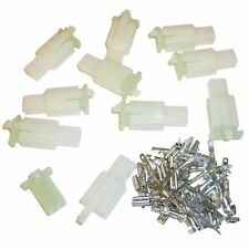 PACK of 10 Motorcycle Mini-Latch - Wiring Connector Sets (2.8mm) - 2 way NATURAL