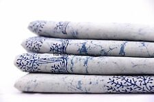 5 Yards Cotton Voile Hand Block Tree Print Fabric Natural Dyes Sanganer Indian