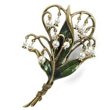 NEW SWEET ROMANCE ART NOUVEAU LILY OF THE VALLEY PIN/ BROOCH