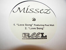 "MISSEZ LOVE SONG w/PAUL WALL 12"" Single NM Fo-Reel PROMO w/Mini Poster"