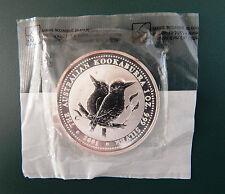 2001 Australian Kookaburra 1 oz 999 Silver Coin - BU Littleton Sealed Bag