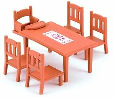 Sylvanian Families ~ Family Dining Table & Chairs Set