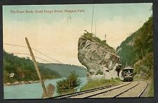 C1910 - Train Passing the Giant Rock, Great Gorge Route, Niagara Falls, Canada