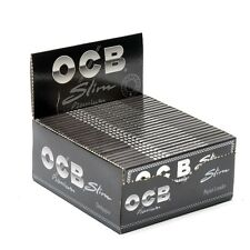 Cartine OCB NERE LUNGHE premium slim King Size 100 pz 2 box