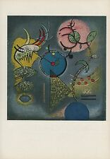 """1958 Vintage KANDINSKY """"QUIET"""" WONDERFUL ABSTRACT COLOR Art Print Lithograph"""