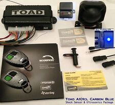 Toad Alarm A101cl Carbon, Blue LED,car van Alarm,Shock Sensor & Ultrasonics Pack