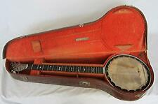 BEST ON EBAY MEGA RARE RILEY BAKER PATENT BANJO & CASE 1897 SUPERB