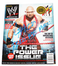 WWE RYBACK HAND SIGNED MAGAZINE WITH PICTURE PROOF COA
