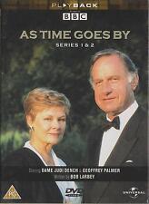 AS TIME GOES BY - Series 1 & 2. Dame Judi Dench, Geoffrey Palmer (3xDVD BOX SET)