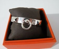 Hermes Sterling Silver CDC Pm SH  Collier de Chien Bracelet Bangle Cuff  $1450