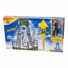 WWE MATTEL MONEY IN THE BANK WRESTLING RING PLAYSET SETH ROLLINS CASE