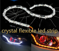 AES Crystal Flexible Running Type White & Yellow Color DRL Light For All Cars