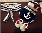 Newborn Baby Girls Boys Crochet Knit Costume Photo Photography Prop Outfits A2