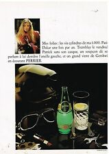 Publicité Advertising 1980 Eau Perrier  par R.Wilson