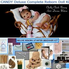 Reborn CANDY Complete Beginner Starter DELUXE Kit Lot DVD, PAINTS, BODY, MOHAIR