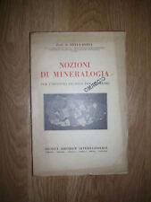 PROF.G.DELLA BEFFA - NOZIONI DI MINERALOGIA -PER L'ISTITUTO TECNICO GEOMETRI (EN