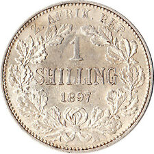1897 South Africa (ZAR) 1 Shilling Silver Coin KM#5