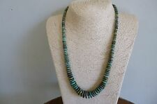Graduated Royston Nevada Turquoise And Silver Native American  Necklace