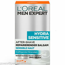 (90€/L) 100ml Loreal Men Expert Hydra Sensitive After Shave Repar. Balsam
