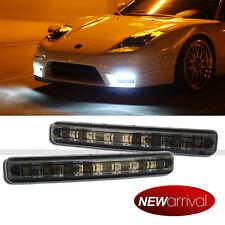 """For Civic 6"""" Smoke Lens White LED Daytime Running Fog Parking Signal light"""