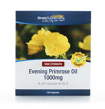 Simply Supplements Evening Primrose Oil 1000mg  120 Capsules (B280)