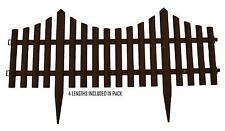 4x Border Edging Fence. Lawn Border Fence. Garden grass driveway picket. Curved.