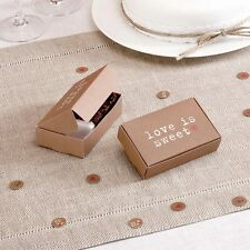 Just My Type 10 Wedding Cake Sweet Treat Favour Gift Boxes Brown Vintage Style