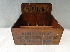 Antique Aunt Lydia's Button Carpet & Thread Advertising Display Box, Lydias