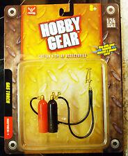 17022 Werkzeug Autogen Schweißen Gas Torch Gasflaschen, 1:24, Hobby Gear