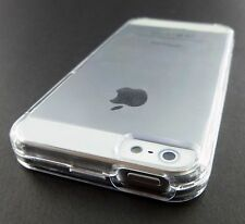 CLEAR TRANSPARENT 2 PIECES HARD SHELL SNAP-ON CASE COVER APPLE IPHONE 5 5S SE