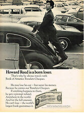 Vintage 1968 Magazine Ad Bank Of America Travelers Cheques Use Anywhere In World