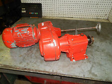 Brooks D80BH S291653 .75KW 1hp motor w/ Lenze variable speed gear reducer