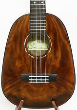 Alulu Solid Acacia KOA Pineapple Shape Tenor Ukulele, Natural Grain - BU257