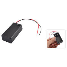1X 9V Battery Holder with ON/OFF Switch 9 volt Box - 2 wire adapter electronics