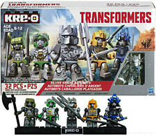 Kre-O Transformers Movie 4 Silver Knight Autobots Optimus prime Hound Drift Pack